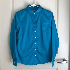 Banana Republic Turquoise button down shirt